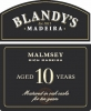 Blandy's 10 Year Old Malmsey Madeira 500ml Rated 88WS