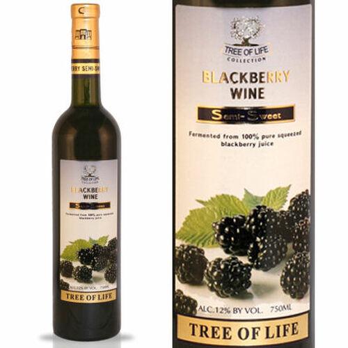 Tree of Life Semi-Sweet Blackberry Armenian Wine NV