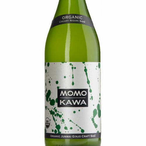 Momokawa Organic Nigori Junmai Ginjo Sake 375ML Half Bottle Rated 89BTI BEST BUY
