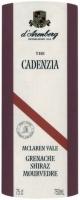 d'Arenberg The Cadenzia Grenache Shiraz Mouvedre 2009 (Australia) Rated 91WS