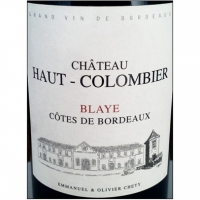 Chateau Haut-Colombier Blaye Cotes de Bordeaux 2014