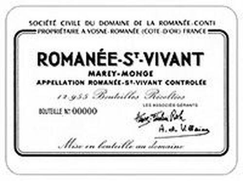 DRC Domaine de la Romanee-Conti St. Vivant 2015 Rated 95WA