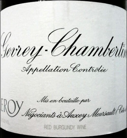 Leroy Gevrey-Chambertin 1982