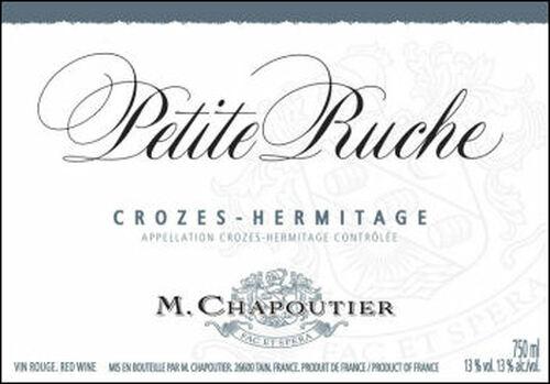 M. Chapoutier Crozes-Hermitage La Petite Ruche Rouge 2016 (France) Rated 91VM