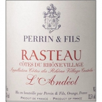 Perrin & Fils Rasteau L'Andeol Cotes du Rhone Villages 2011 Rated 86-89WA