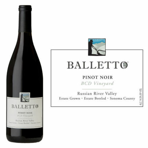 Balletto BCD Vineyard Russian River Pinot Noir 2018 Rated 92WE