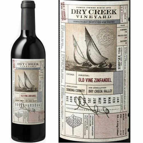 Dry Creek Vineyard Sonoma Old Vines Zinfandel 2018 Rated 92WE