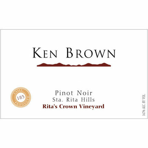 Ken Brown Rita's Crown Vineyard Pinot Noir 2016