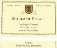 Marimar Estate Don Miguel Acero Un-Oaked Chardonnay 2013 Rated 90WE EDITORS CHOICE