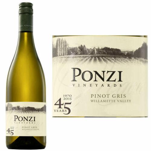 Ponzi Vineyards Willamette Valley Pinot Gris 2018 Oregon
