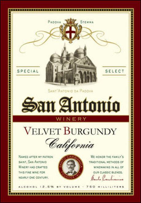 San Antonio Velvet Burgundy NV