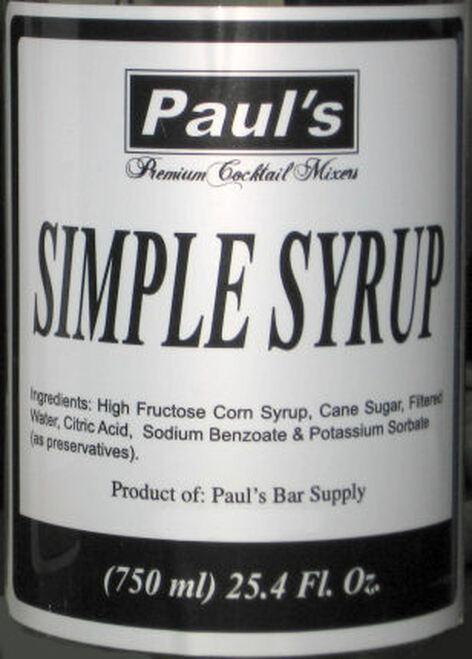 Paul's Premium Cocktail Mixers Simple Syrup 25.4oz