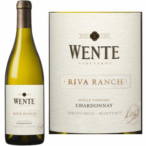 12 Bottle Case Wente Riva Ranch Arroyo Seco Chardonnay 2018
