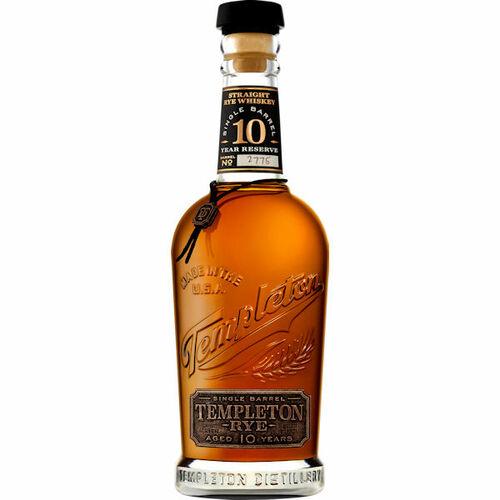 Templeton Single Barrel 10 Year Old Rye Whiskey 750ml