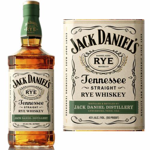Jack Daniel's Tennessee Straight Rye Whiskey 750ml