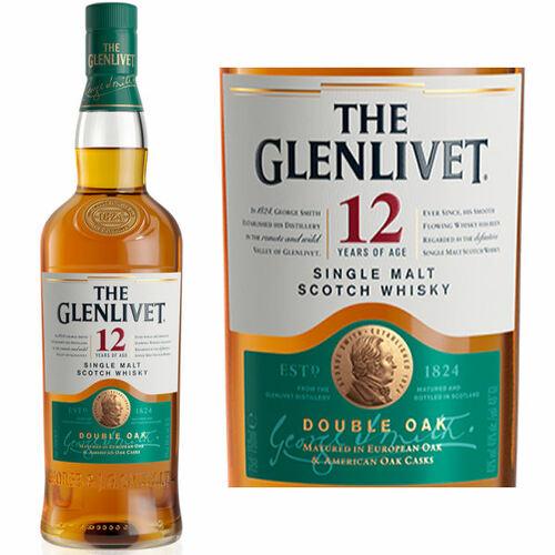 The Glenlivet 12 Year Old Double Oak Speyside Single Malt Scotch 750ml Etch
