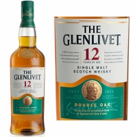 The Glenlivet 12 Year Old Double Oak Speyside Single Malt Scotch 750ml Etch