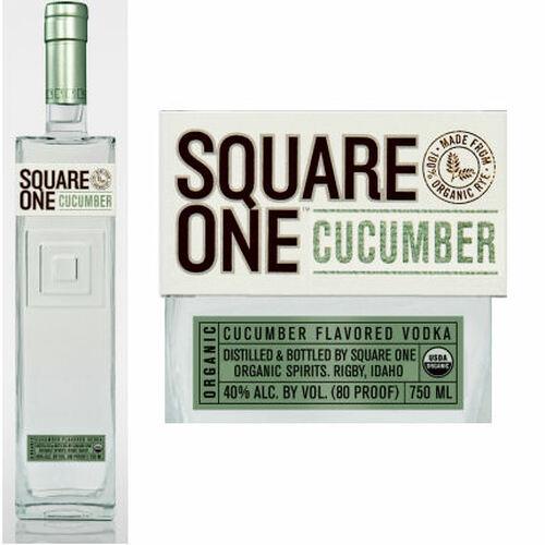 Square One Organic Cucumber Flavored Vodka 750ml Etch