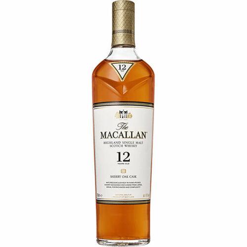 Macallan 12 Year Old Sherry Oak Cask Highland Single Malt Scotch 750ml Etch