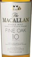 Macallan 10 Year Old Fine Oak Single Malt Scotch 750ml Etch Rated 96-100WE BEST BUY