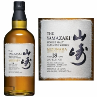 Suntory The Yamazaki Mizunara 18 Year Old Single Malt Japanese Whisky 750ml