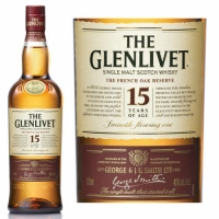 The Glenlivet 15 Year Old French Oak Speyside Single Malt Scotch 750ml Etch Rated 91WE