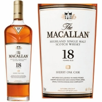 Macallan 18 Year Old Sherry Cask Highland Single Malt Scotch 750ml Etch