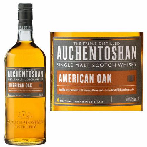 Auchentoshan American Oak Lowland Single Malt Scotch 750ml Etch