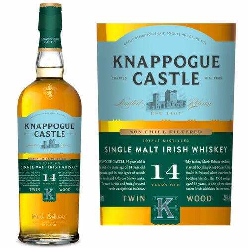 Knappogue Castle Non-Chill Filtered 14 Year Old Single Malt Irish Whiskey 750ml