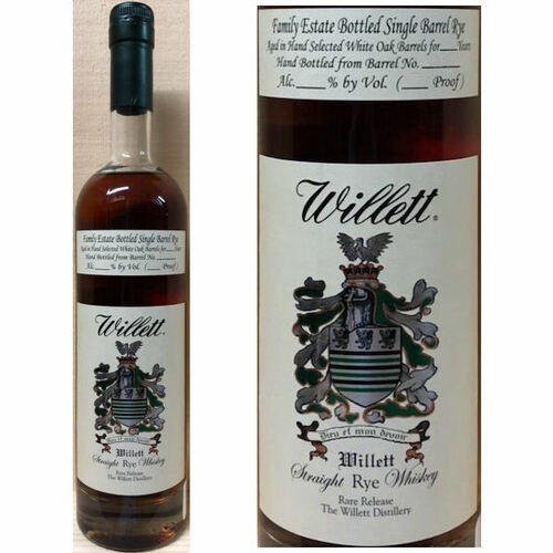 Willett Family Estate 6 Year Old Single Barrel Straight Rye Whiskey 112 Proof 750ml