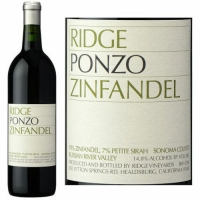 Ridge Ponzo Russian River Zinfandel 2015 Rated 92WS