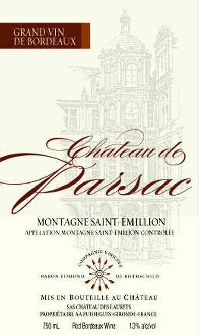 Chateau de Parsac Saint Emilion 2013 Kosher