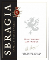 12 Bottle Case Sbragia Family Dry Creek Gino's Vineyard Zinfandel 2012