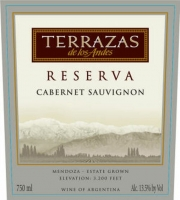 12 Bottle Case Terrazas de los Andes Reserva Cabernet 2015