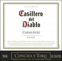 12 Bottle Case Concha Y Toro Casillero del Diablo Reserve Carmenere 2015 (Chile)