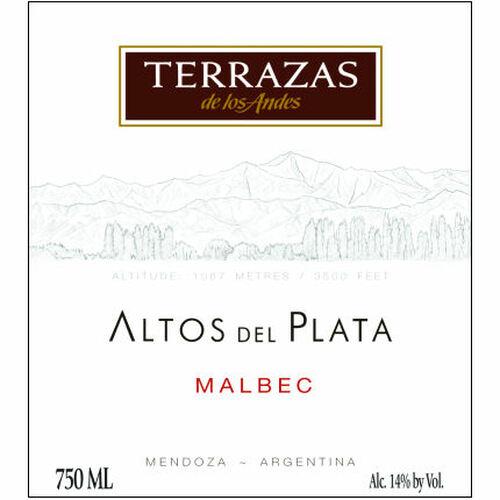 Terrazas de los Andes Altos Del Plata Malbec 2018