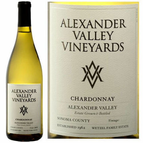 12 Bottle Case Alexander Valley Vineyards Alexander Chardonnay 2018