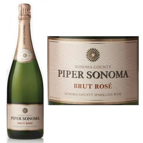 12 Bottle Case Piper Sonoma Brut Rose NV