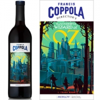 12 Bottle Case Francis Coppola Director's Wizard of Oz California Merlot 2015