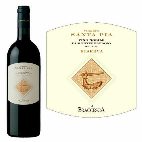 La Braccesca Vigneto Santa Pia Vino Nobile di Montepulciano DOCG 2013 Rated 93JS