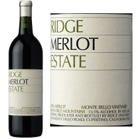 Ridge Estate Monte Bello Vineyard Merlot 2014 Rated 93VM