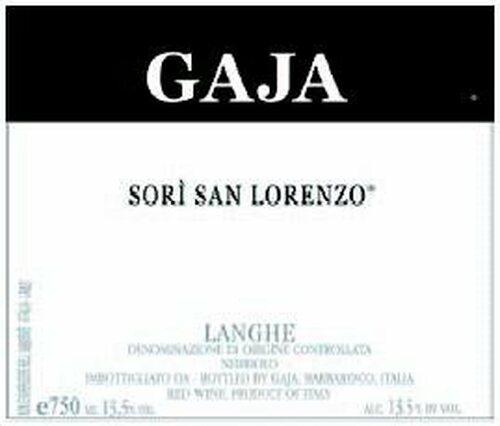 Gaja Sori San Lorenzo 2011 Rated 96WA