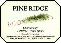 Pine Ridge Dijon Clones Carneros Napa Chardonnay 2013