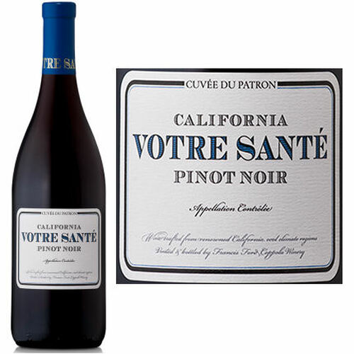 12 Bottle Case Votre Sante California Pinot Noir 2017