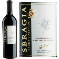 12 Bottle Case Sbragia Family Monte Rosso Vineyard Dry Creek Cabernet 2012 Rated 94JS