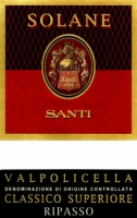 12 Bottle Case Santi Valpolicella Classico Superiore Solane 2016
