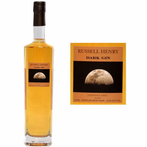 Russell Henry Dark London Dry Gin 750ml