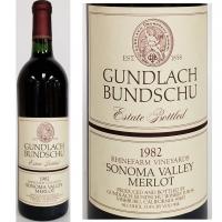 Gundlach Bundschu Sonoma Merlot 1982