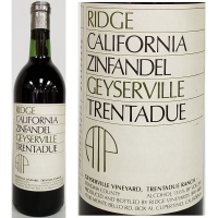 Ridge Trentadue Ranch Geyserville Vineyard Sonoma Zinfandel 1985