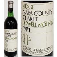 Ridge Howell Mountain Claret 1981